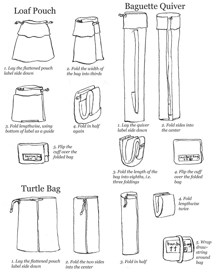 Bamboo Bag Folding